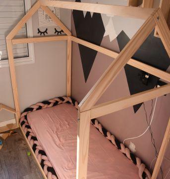 Cama Montessori Casinha tamanho SOLTEIRO - Sem faixa etaria - Casa Tema