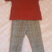 Blusa cropped e calça zara - 5 anos - Zara