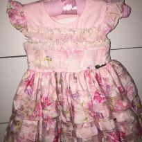 Vestido de Festa - 9 a 12 meses - Cattai