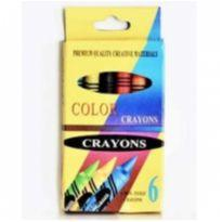 giz de cera 6 cores -  - Crayon