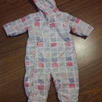Macacão plush com capuz - 3 a 6 meses - Baby Way