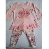 Conjunto camisa e legging tam. 9-12 meses Pula Bula - 9 a 12 meses - Pulla Bulla