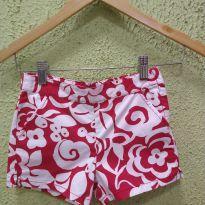 Short Vermelho e Branco Gymboree - 6 anos - Gymboree
