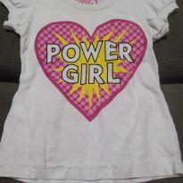Blusa girl power - 2 anos - Basic+ Kids