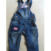 Macaquinho jeans - 6 a 9 meses - Outros