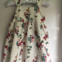 Vestido flores e borboletas - 12 a 18 meses - Teddy Boom