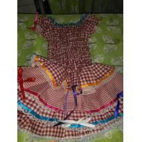 Lindo vestido de caipira - 1 ano - Várias