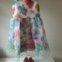 Vestido Floral - 6 anos - Um mais um