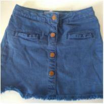 saia de sarja azul com botões - 5 anos - Zara