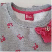 Blusão de Moleton Barbiefa - 10 anos - Fakini