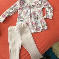 Conjunto de blusa e calça - 3 a 6 meses - Kiki Xodó