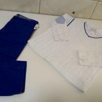 Look perfeito, suéter, camisa e calça - 2 anos - Janie and Jack e Zara