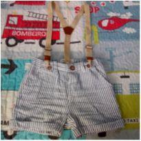 Shorts com suspensório