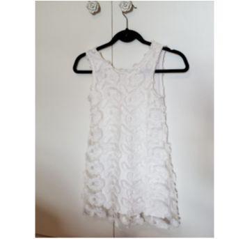 Vestido Festa Branco - 9 anos - Zara