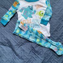 Pijama Monstros SA - 3 a 6 meses - Disney e Disney baby