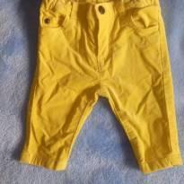 Calça de veludo amarela - 3 meses - Carter`s