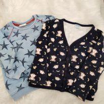 Dupla de casacos - 9 a 12 meses - Baby Way e Zara Baby