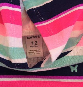 Blusa moleton - 9 a 12 meses - Carter`s