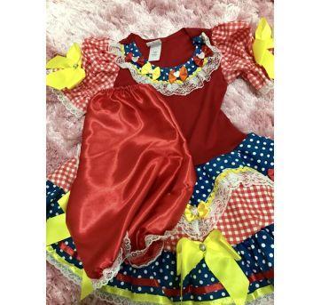 Vestido Festa Junina - 3 anos - vestido