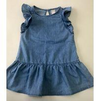 Vestido Jeans - 24 a 36 meses - Hering Kids