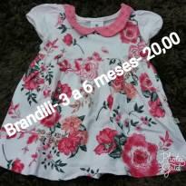 Vestido Brandili - 3 a 6 meses - Brandili