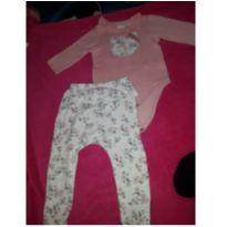 Conjunto body+calça - 6 a 9 meses - `Milon e outro