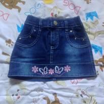 saia jeans infantil - 2 anos - Sem marca