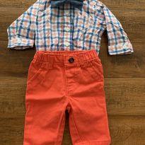Conjunto calça e body Carters - Recém Nascido - Carter`s