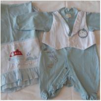 Saída Maternidade azul - Recém Nascido - Não informada