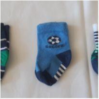 Kit com 3 pares de meia - Recém Nascido - Não informada