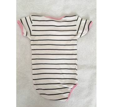 Body manga curta patimini - 3 a 6 meses - Patimini
