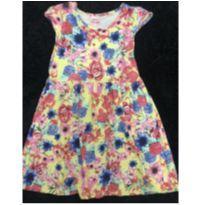 Vestido florido - 6 anos - Alenice
