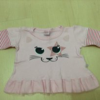 Blusinha gatinho - 6 a 9 meses - Baby Way