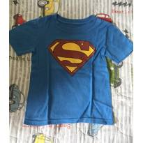 camiseta super homem - 4 anos - Não informada