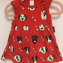 Vestido em malha com body para bebê - BB Básico - 3 a 6 meses - BB Básico