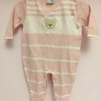 Macacão em tricô cor de rosa Recem nascido Noruega baby - Recém Nascido - Noruega Baby