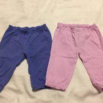Conjunto de 2 calças Carters para menina tamanho 3 meses - 0 a 3 meses - Carter`s