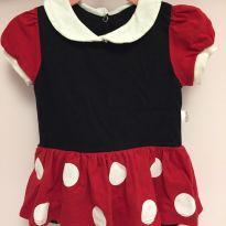 Fantasia Body de Minnie para bebê Tamanho M Baby Chocolate - 3 a 6 meses - Baby Chocolate