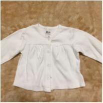 Casaquinho em malha branco com detalhes Tamanho 3 a 6 meses Teddy Boom - 3 a 6 meses - Teddy Boom