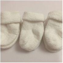 kit com 3 meias brancas bem quentinhas/fofinhas Carters - 3 meses - Carter`s