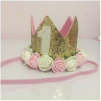 Coroa linda para aniversário de 1 ano
