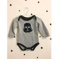 Body Darth Vader - 3 a 6 meses - Picolé