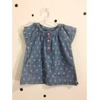 Vestidinho Jeans Carter`s - 6 meses - Carter`s e Baby Gap