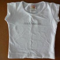 Camiseta de bebê menina - 6 a 9 meses - Nini e Bambini