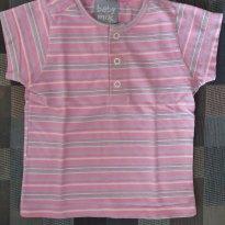 Camiseta listrada menina - 9 a 12 meses - baby mix