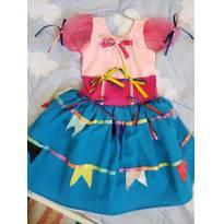 Vestido de Festa Junina Artesanal - 4 anos - Artesanal