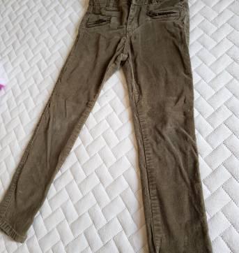 Calca skinny da Zara, aveludada caqui - 4 anos - Zara