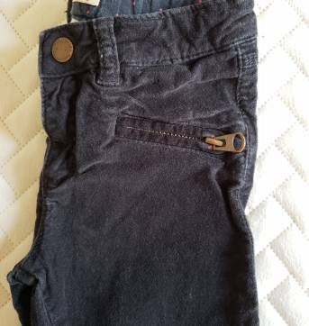 Calca skinny da Zara, aveludada preta - 4 anos - Zara