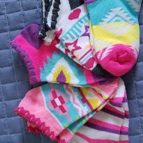 Kit 5 pares de meia meninas - 4 anos - Não informada