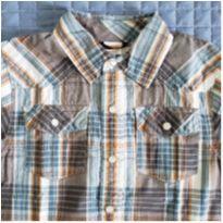 Camisa manga curta xadrez Gymboree - 4 anos - Gymboree